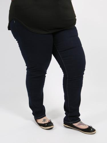 Curve Essentials Indigo Blue Straight Leg Jeans