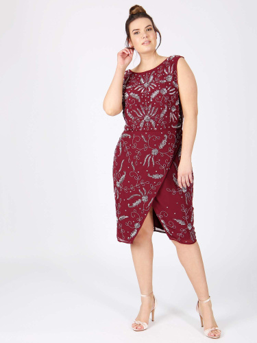 Lovedrobe Luxe Embellished Crossover Shift Dress