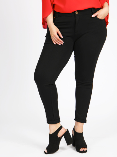 Curve Essentials Jersey Skinny Fit Zip Closure Jeggings