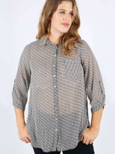 Lovedrobe GB spot print collared shirt