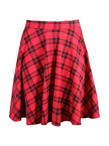 Curve Essentials Red Tartan Skater Skirt
