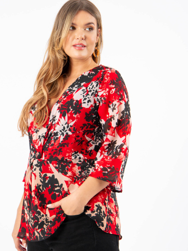 Koko Floral Twist Front Top