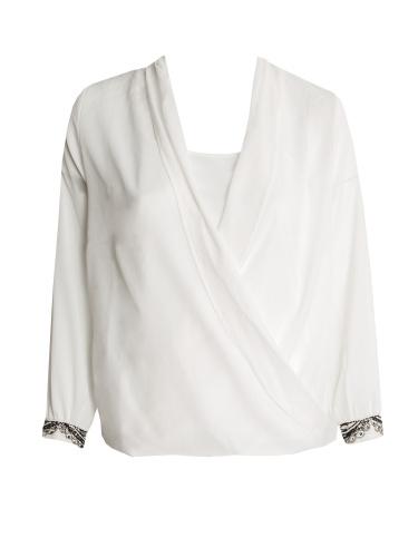 Curve Essentials Wrap Embellished Blouse