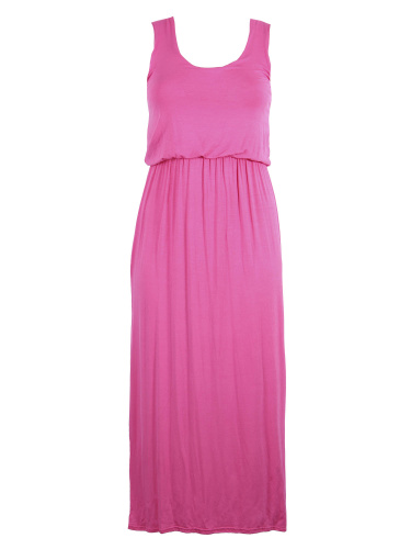 Curve Essentials Fuchsia Toga Maxi Dress